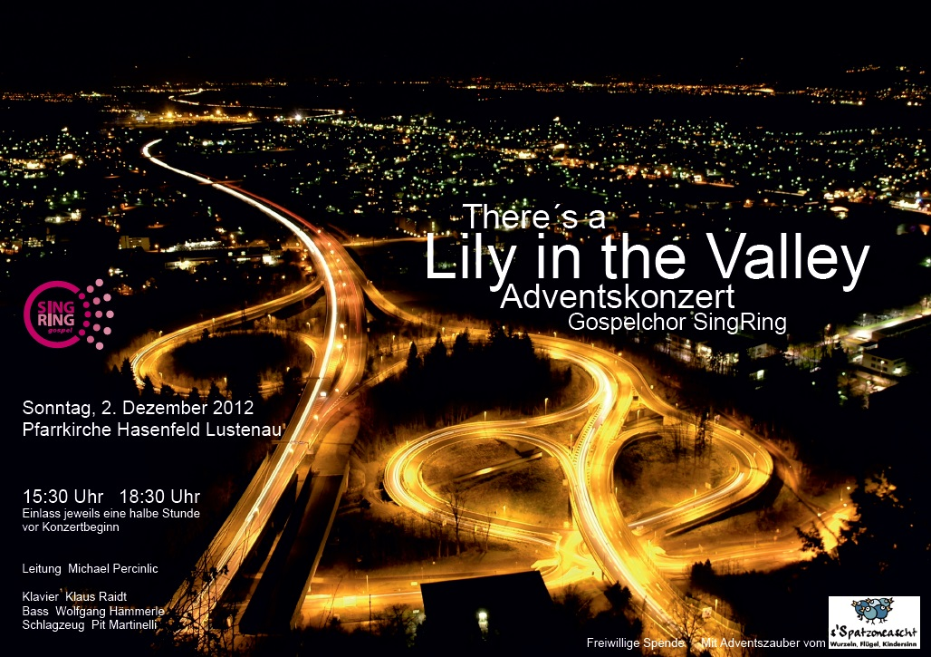 2012_Adventskonzert_Poster_There´s a Lily in the Valley