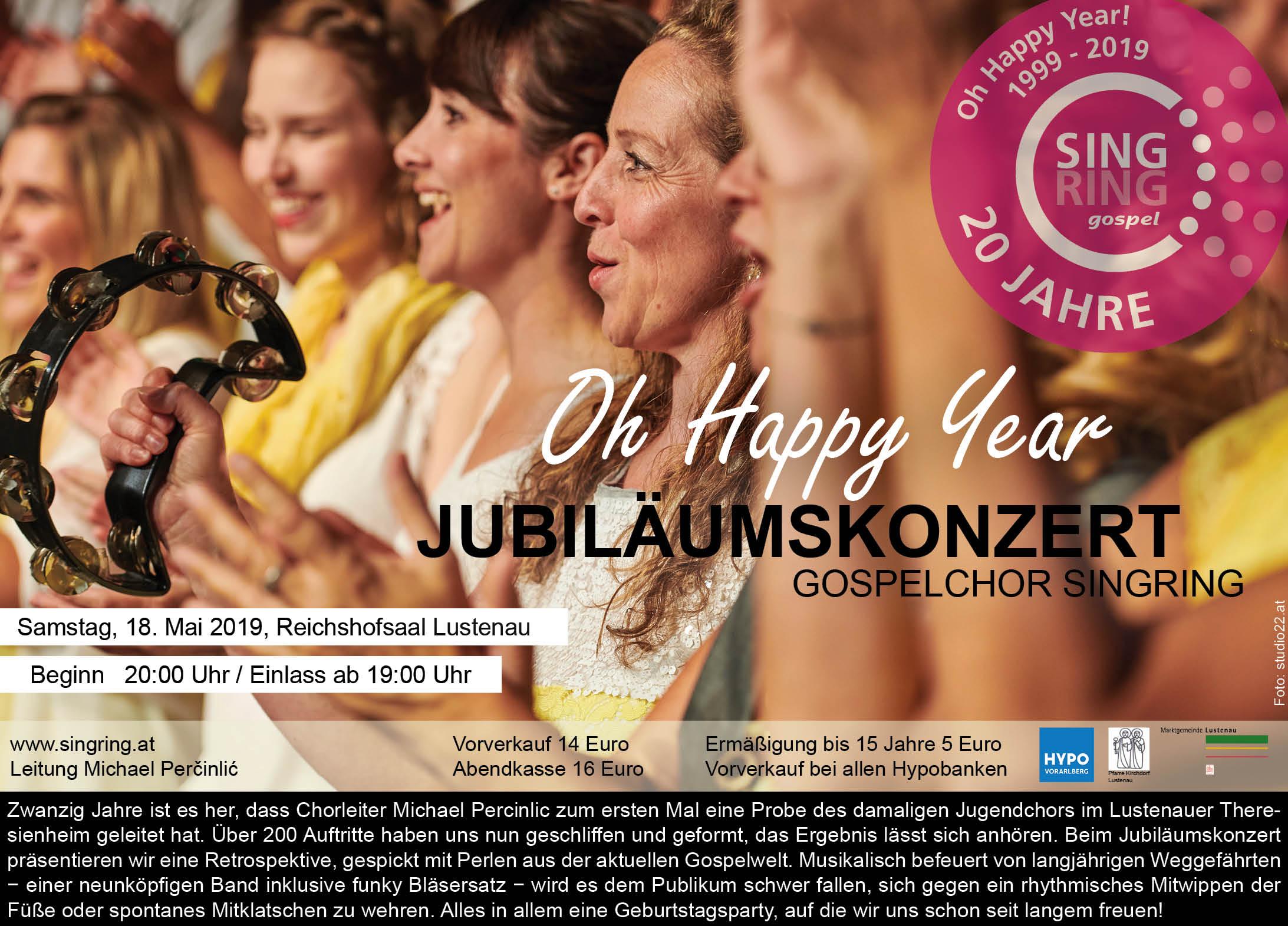 Mailing Jubiläumskonzert 2019
